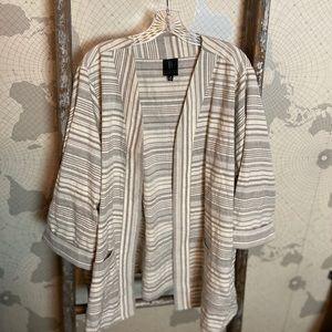 Bobeau open front jacket / cardigan 3X EUC